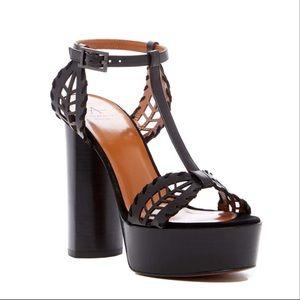 Aquatalia Isadora Laser Cut Platform Sandals NWB